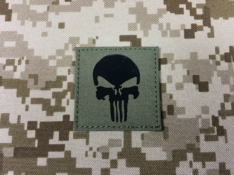 Picture of Warrior Dummy IR Punisher Skull Navy Seal Patch (RG) (Free Shipping)