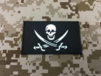 Picture of Warrior Navy SEAL Team Skull Pirate Patch (Black) (Free Shipping)