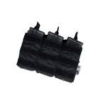 Picture of The Black Ships Tactical Open-Top Triple Mag Pouch (Black)