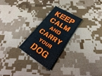 Picture of Warrior Luminous Keep Calm and Carry your DOG Patch (Black) (Free Shipping)
