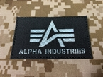Picture of Warrior ALPHA INDUSTRIES Reflective Patch (Black) (Free Shipping)