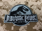 Picture of Warrior Jurassic Park Embroidered Patch (Gray) (Free Shipping)