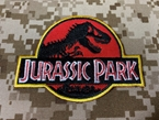 Picture of Warrior Jurassic Park Embroidered Patch (RED) (Free Shipping)