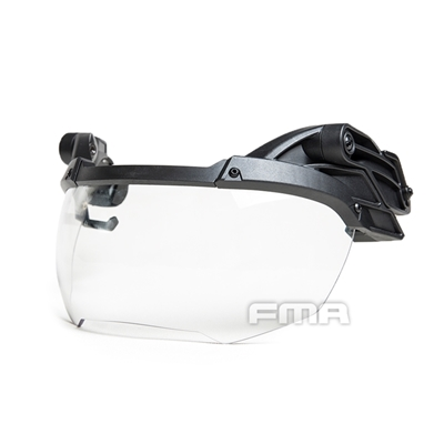 Picture of FMA Helmet Goggle Transparent Lenses (Black)