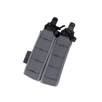 Picture of TMC Lightweight 9MM Stackable Double Pistol Pouch (Wolf Grey)