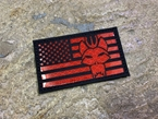 Picture of Warrior SEAL Team USA Flag Reflective Patch (BK, RED) (Free Shipping)