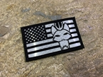 Picture of Warrior SEAL Team USA Flag Reflective Patch (BK, WH) (Free Shipping)