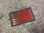Picture of Warrior SEAL Team USA Flag Reflective Patch (RG, RED) (Free Shipping)