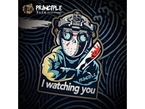 Picture of PRINCIPLE PVC patch 'i watching you'  (Free Shipping)