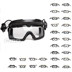 Picture of FMA Tactical Helmet Safety Goggles Transparent Lenses (Color optional)