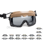 Picture of FMA Tactical Helmet Safety Goggles Gray Lenses (Color optional)
