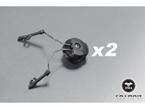Picture of FMA OPS CORE Helmet Rail Adapter Set For Peltor Comtac Gear Headset Holder Duty (Black)