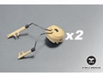 Picture of FMA OPS CORE Helmet Rail Adapter Set For Peltor Comtac Gear Headset Holder Duty (DE)